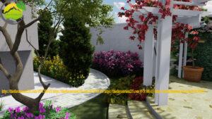 Sân vườn sau nhà đẹp