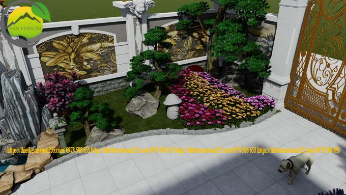Sân vườn trước nhà đẹp