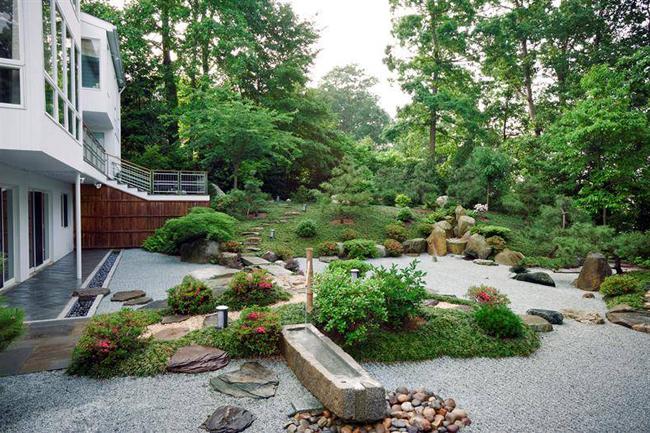 Sân vườn trước nhà phong cách Nhật Bản