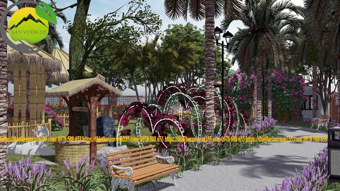 thiết kế cảnh quan sân vườn quán cafe