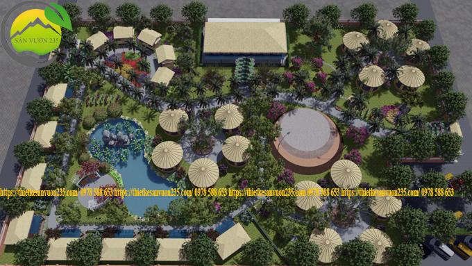 thiết kế cảnh quan sân vườn quán cà phê