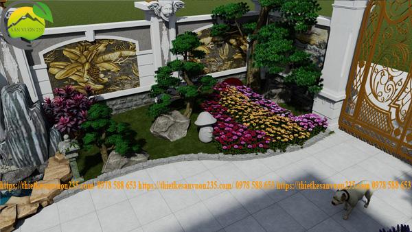 Thiết kế sân vườn nhỏ trước nhà