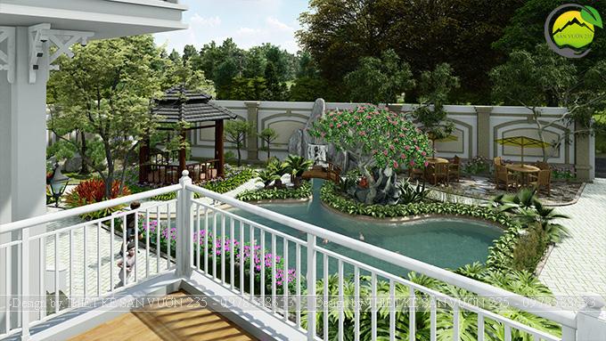 Mẫu thiết kế sân vườn 300m2 tại Bình Dương 3