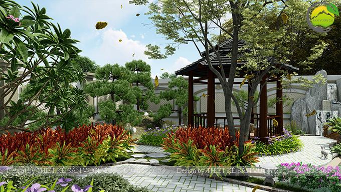 Mẫu thiết kế sân vườn 300m2 tại Bình Dương 4