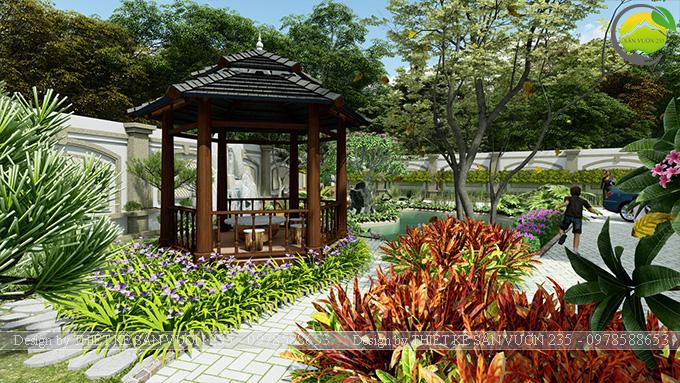 Mẫu thiết kế sân vườn 300m2 tại Bình Dương 5