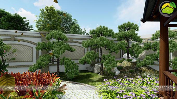 Mẫu thiết kế sân vườn 300m2 tại Bình Dương 6