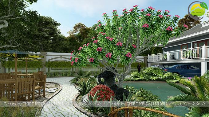 Mẫu thiết kế sân vườn 300m2 tại Bình Dương 8