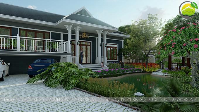Mẫu thiết kế sân vườn 300m2 tại Bình Dương 9