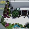 Mẫu thiết kế sân vườn biệt thự 200m2 tại Hà Nội