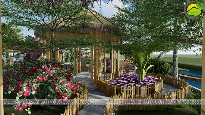 Mẫu thiết kê sân vườn cafe 2000m2 tại Sai Gòn 14