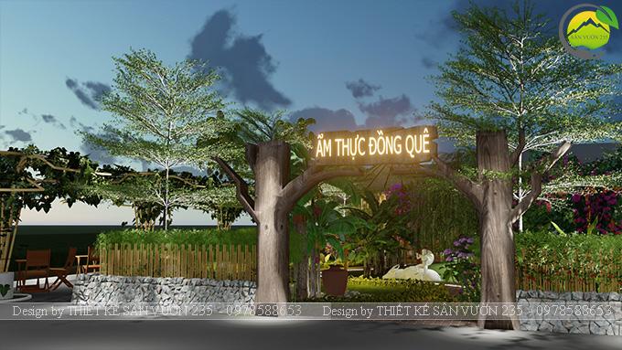 Mẫu thiết kê sân vườn cafe 2000m2 tại Sai Gòn 11