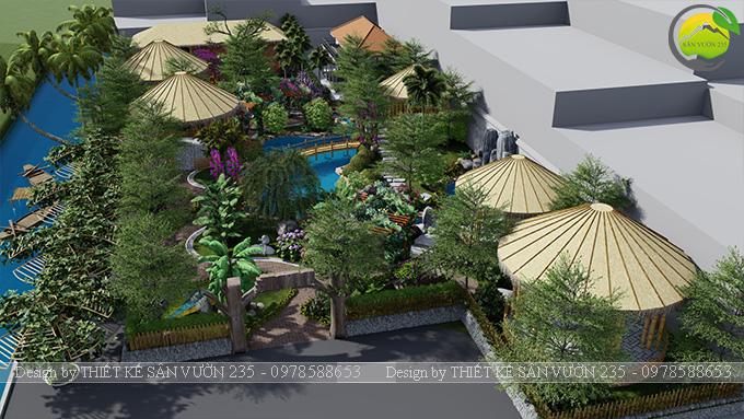 Mẫu thiết kê sân vườn cafe 2000m2 tại Sai Gòn 24