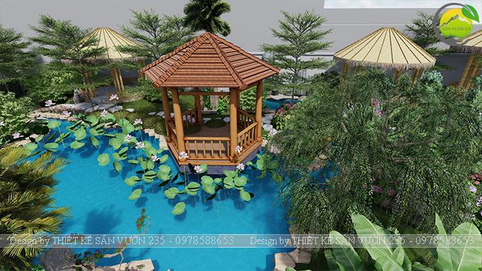 Mẫu thiết kê sân vườn cafe 2000m2 tại Sai Gòn 5
