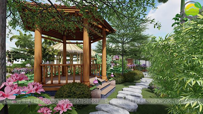 Mẫu thiết kê sân vườn cafe 2000m2 tại Sai Gòn 4