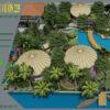 Mẫu thiết kê sân vườn cafe 2000m2 tại Sai Gòn