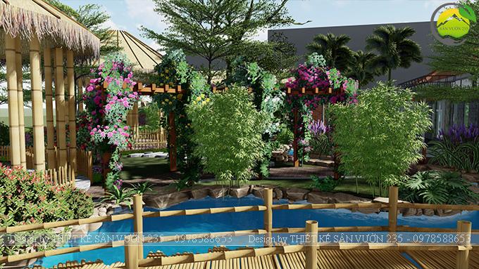 Mẫu thiết kê sân vườn cafe 2000m2 tại Sai Gòn 19