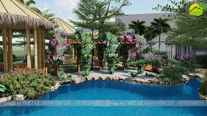 Mẫu thiết kê sân vườn cafe 2000m2 tại Sai Gòn 18