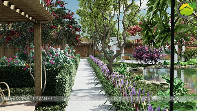 Mẫu thiết kế sân vườn cafe tại Quốc Oai - Hà Nội 2