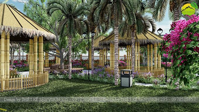Mẫu thiết kế sân vườn cafe tại Quốc Oai - Hà Nội 11
