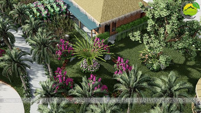Mẫu thiết kế sân vườn cafe tại Quốc Oai - Hà Nội 13