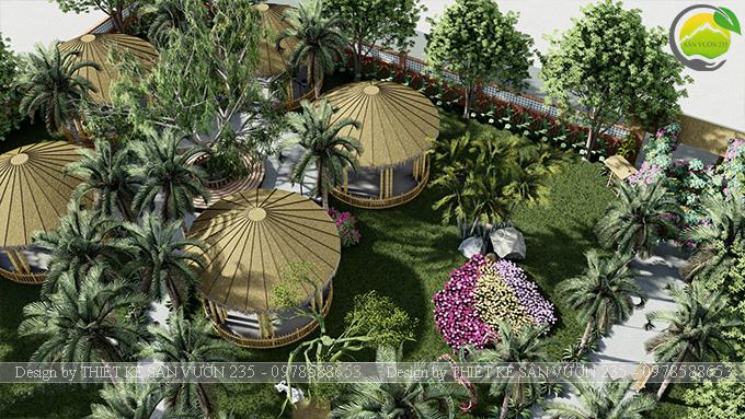 Mẫu thiết kế sân vườn cafe tại Quốc Oai - Hà Nội 14