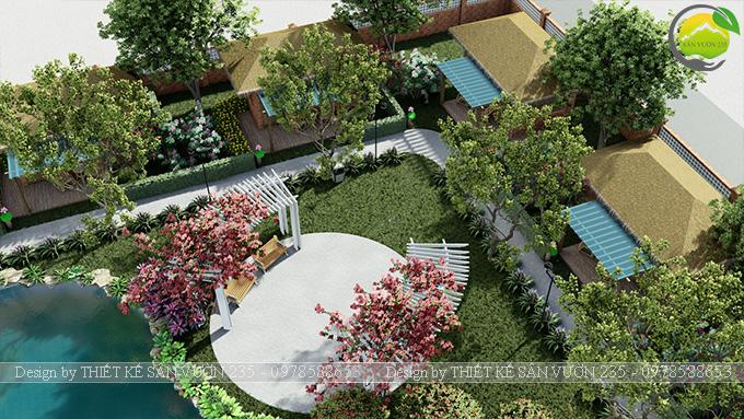Mẫu thiết kế sân vườn cafe tại Quốc Oai - Hà Nội 16