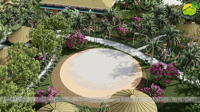 Mẫu thiết kế sân vườn cafe tại Quốc Oai - Hà Nội 17