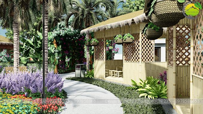 Mẫu thiết kế sân vườn cafe tại Quốc Oai - Hà Nội 5