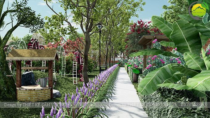Mẫu thiết kế sân vườn cafe tại Quốc Oai - Hà Nội 6