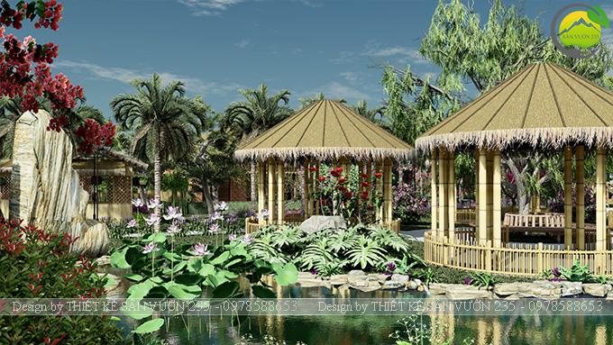 Mẫu thiết kế sân vườn cafe tại Quốc Oai - Hà Nội 8