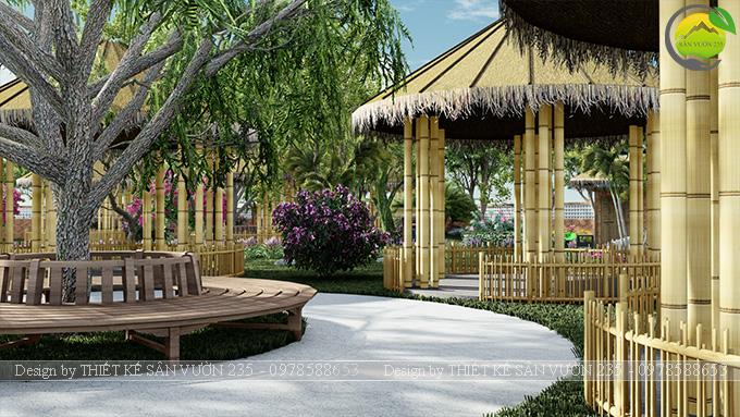 Mẫu thiết kế sân vườn cafe tại Quốc Oai - Hà Nội 9