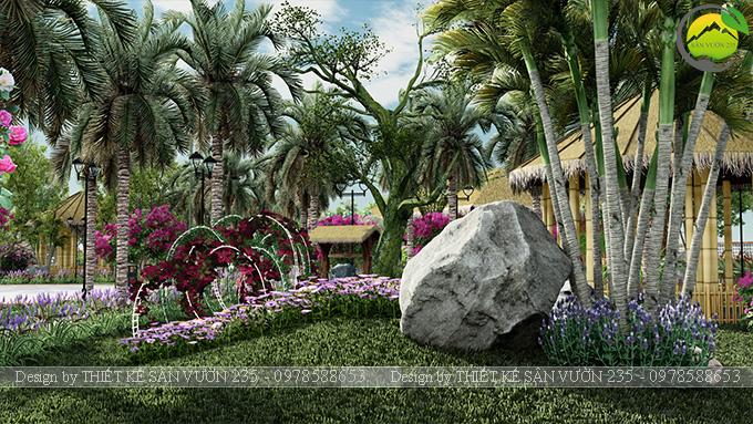Mẫu thiết kế sân vườn cafe tại Quốc Oai - Hà Nội 10
