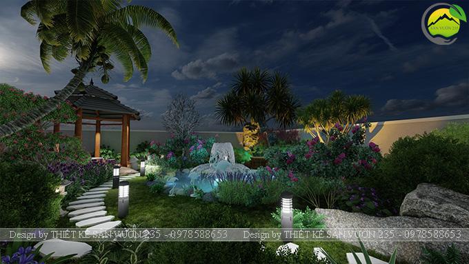 Mẫu thiết kế sân vườn nhà hàng tại Hà Nam 9