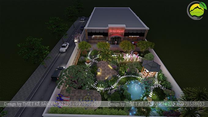 Mẫu thiết kế sân vườn nhà hàng tại Hà Nam 11