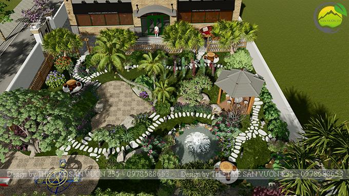 Mẫu thiết kế sân vườn nhà hàng tại Hà Nam 5