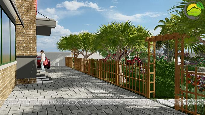 Mẫu thiết kế sân vườn nhà hàng tại Hà Nam 8