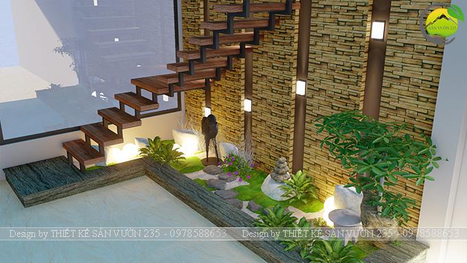 Mẫu thiết kế tiểu cảnh gầm cầu thang tại Sài Gòn 5