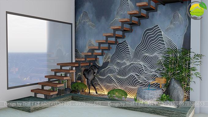Mẫu thiết kế tiểu cảnh gầm cầu thang tại Sài Gòn 6