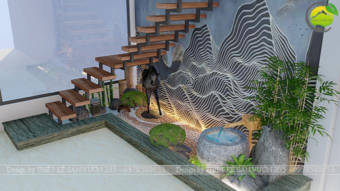 Mẫu thiết kế tiểu cảnh gầm cầu thang tại Sài Gòn 7