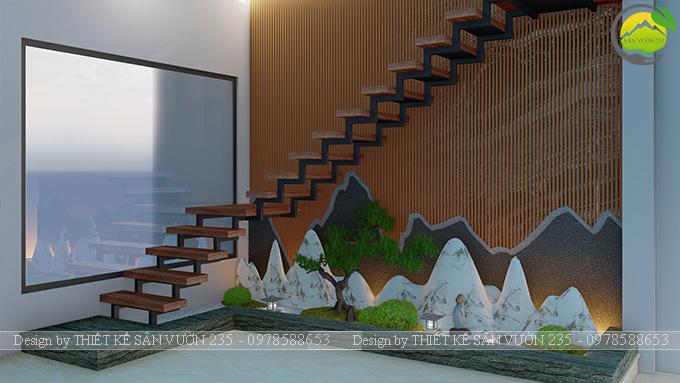 Mẫu thiết kế tiểu cảnh gầm cầu thang tại Sài Gòn 10