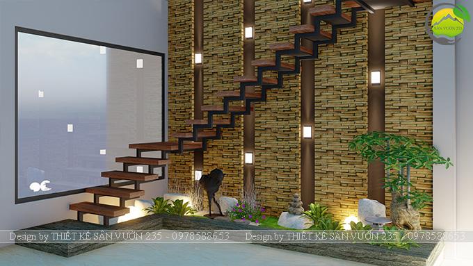 Mẫu thiết kế tiểu cảnh gầm cầu thang tại Sài Gòn 4