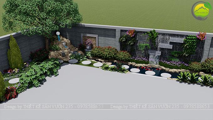Mẫu thiết kế tiểu cảnh lối đi 35m2 tại Sài Gòn 4