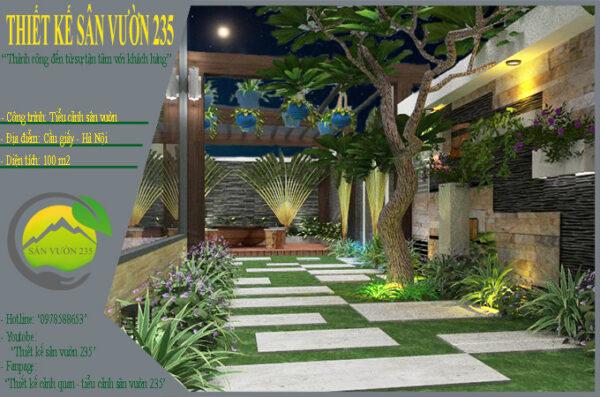 Mẫu thiết kế tiểu cảnh sân vườn tại Hà Nội