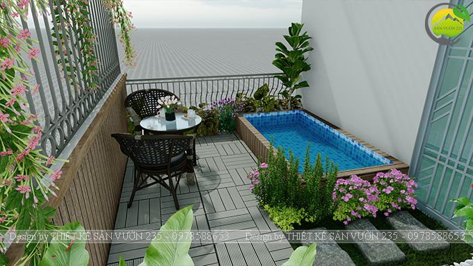 Mẫu thiết kế tiểu cảnh sân thượng tại Thanh Xuân - Hà Nội 10