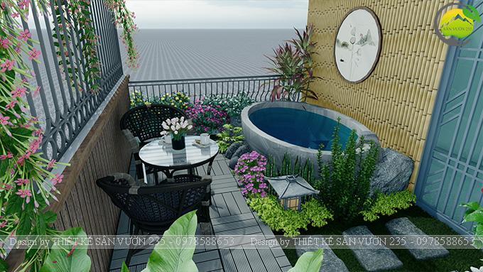Mẫu thiết kế tiểu cảnh sân thượng tại Thanh Xuân - Hà Nội 14