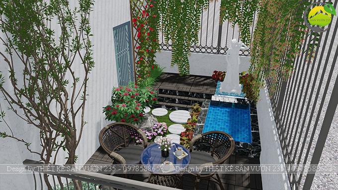 Mẫu thiết kế tiểu cảnh sân thượng tại Thanh Xuân - Hà Nội 3