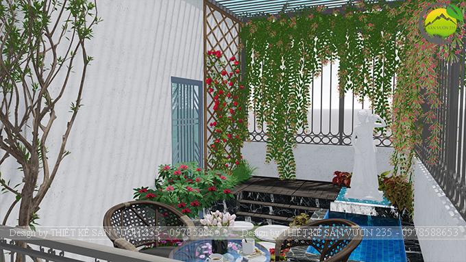 Mẫu thiết kế tiểu cảnh sân thượng tại Thanh Xuân - Hà Nội 4