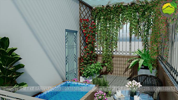 Mẫu thiết kế tiểu cảnh sân thượng tại Thanh Xuân - Hà Nội 5