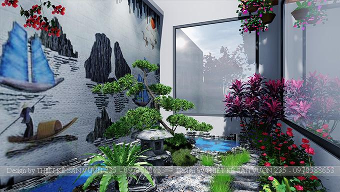 Mẫu thiết kế tiểu cảnh sân vườn tại Vĩnh Phúc 1