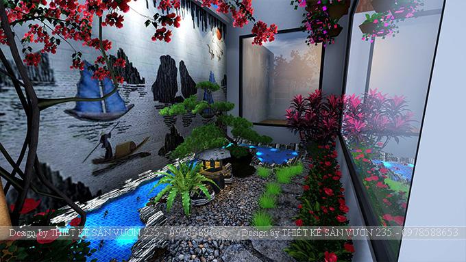 Mẫu thiết kế tiểu cảnh sân vườn tại Vĩnh Phúc 10